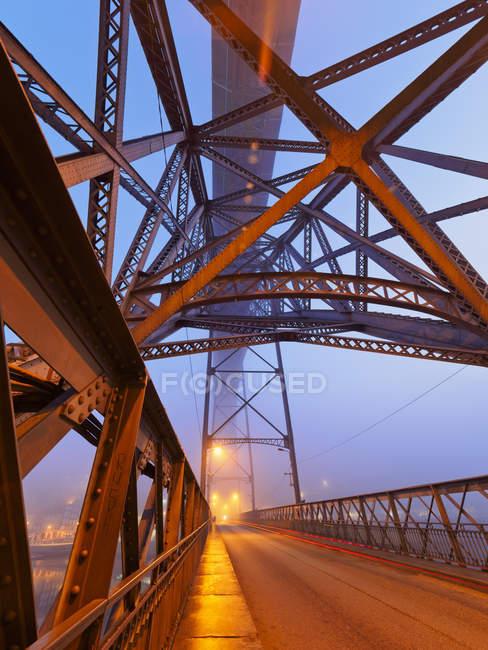 Ponte Luiz I e rio Douro — Fotografia de Stock