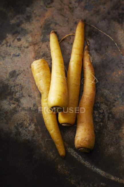 Свежая желтая морковь — стоковое фото