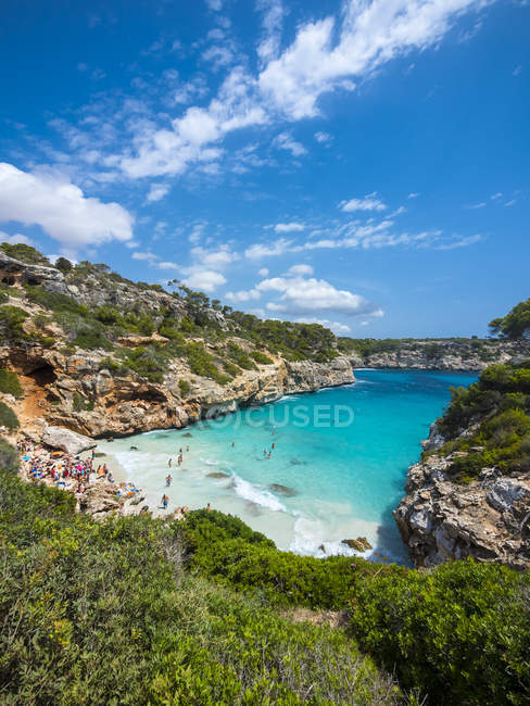 Spain, Baleares, Mallorca, bay Calo des Moro — Stock Photo