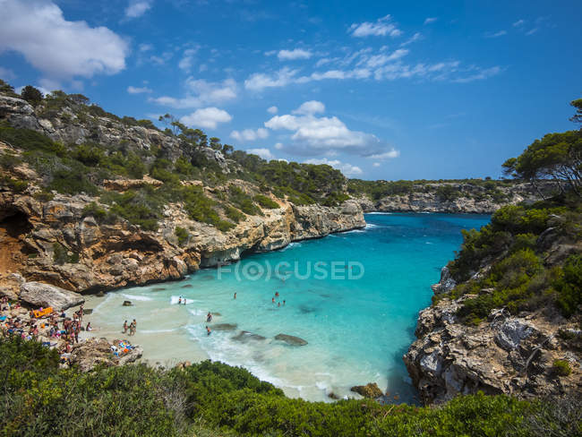Spain, Baleares, Mallorca, View of bay Calo des Moro during daytime — Stock Photo