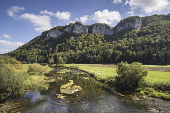 Germania, Baden-Wuerttemberg, distretto di Sigmaringen, Danubio vicino a Hausen im Tal — Foto stock