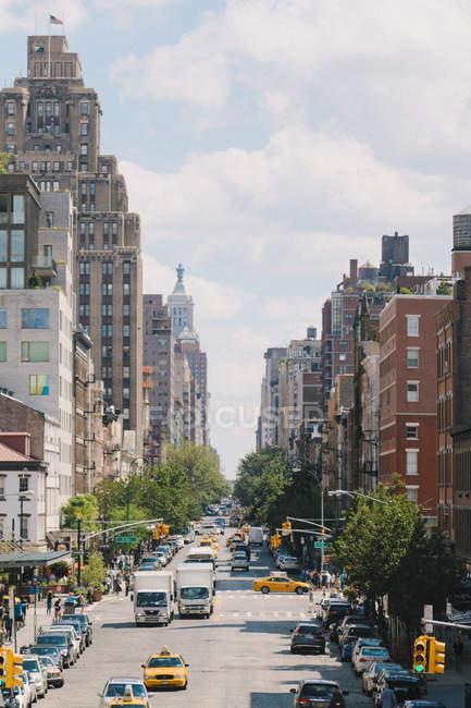 Scena della via Stati Uniti, New York City, al centro di Manhattan — Foto stock