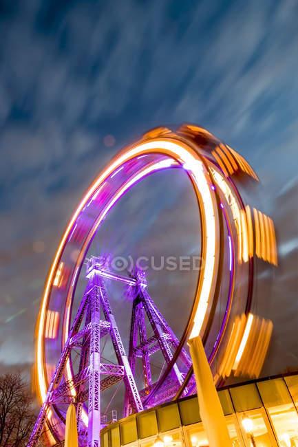Austria, Vienna, ferris wheel on Prater at blue hour — Stock Photo