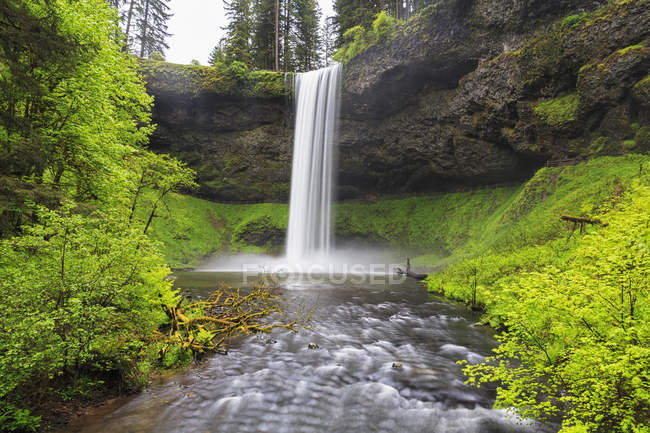 EUA, Oregon, Silver Falls State Park, South Falls — Fotografia de Stock