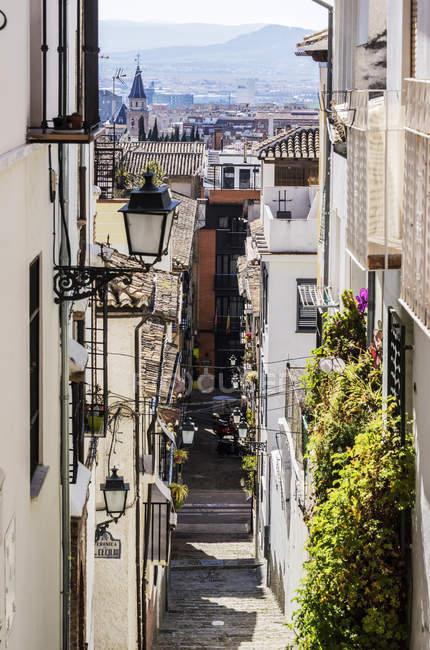Іспанія, Андалусії, Гранада, вид з району Сан-Матіас Realejo, Алея — стокове фото