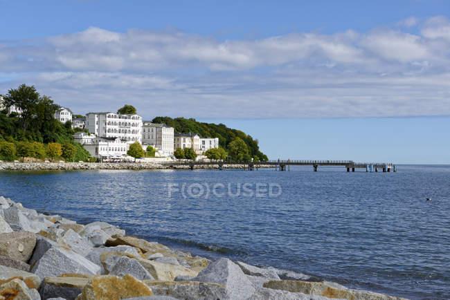 Germany, Ruegen, Sassnitz, Hotel Fuerstenhof at the waterfront — Stock Photo