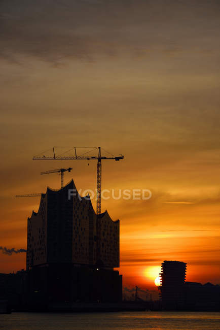 Germany, Hamburg, Elbphilharmonie at dawn — Stock Photo