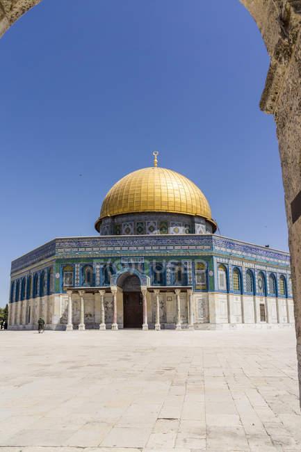 Vista de Israel, Jerusalém, a cúpula da rocha no monte do templo — Fotografia de Stock
