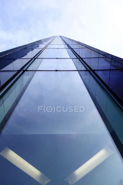 Germany, Dortmund, glass facade of an office building — Stock Photo