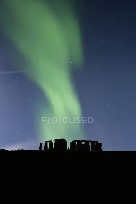 Great Britain, England, Stonehenge at night — Stock Photo