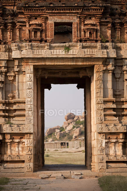 Indien, Karnataka, Achyuta Rayas Tempel in Hampi — Stockfoto