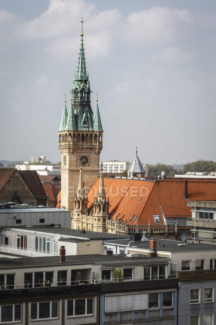 Avis de l'Allemagne, Brunswick, vity Hall pendant la journée — Photo de stock