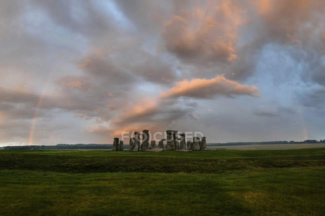 Great Britain, England, Stonehenge in the evening — Stock Photo