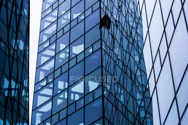 Glass facade of modern office building at Munich, Germany — Stock Photo