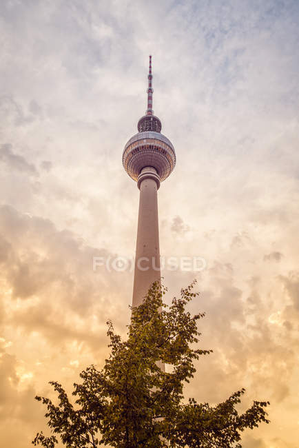 Germany, Berlin, view to television tower at evening twilght — Stock Photo