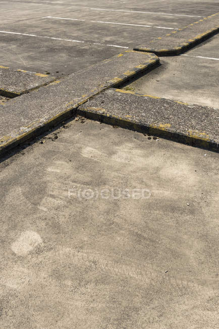 Partial view  of a parking bay — Stock Photo