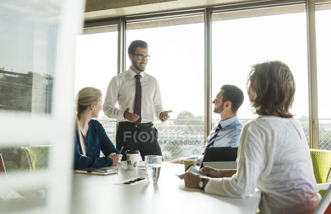 Businessman having a presentation in conference room — Stock Photo