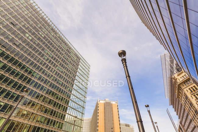 Belgium, Brussels, European Quarter, Charlemagne building and Berlaymont building, European Commission — Stock Photo