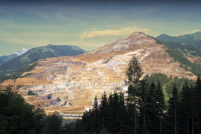 Österreich, Steiermark, Luftaufnahme, Erzberg-mine — Stockfoto