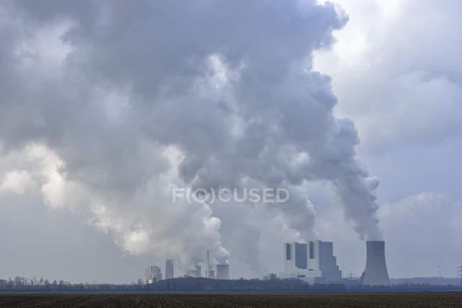 Alemanha, Neurath, central eléctrica a carvão Neurath I an Neurath II — Fotografia de Stock