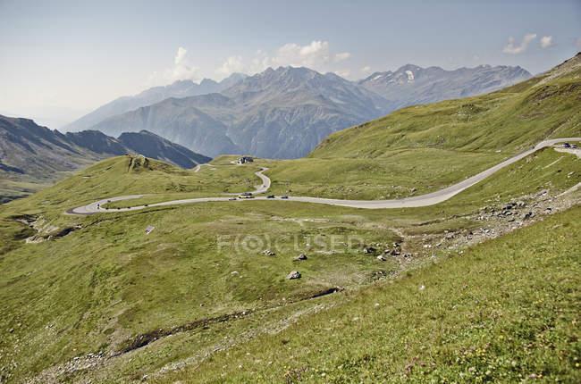 Австрія, Каринтії, Hohe Tauern входу до національного парку mountainscape з мальовничій дорозі — стокове фото