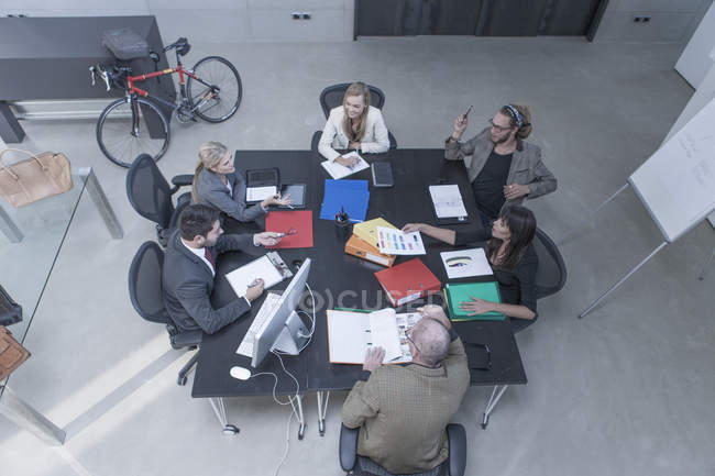 Business people having a meeting in conference room — Stock Photo