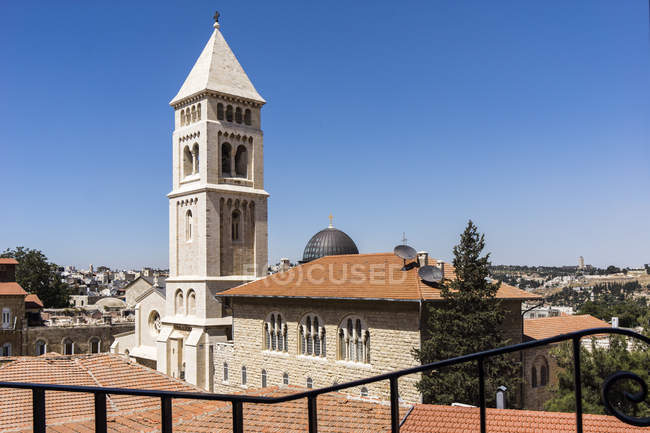Israel, Jerusalem, View to Cathedral of Christ the Saviour, Christiane quarter — Stock Photo