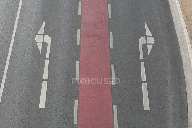 Road markings, top view — Stock Photo