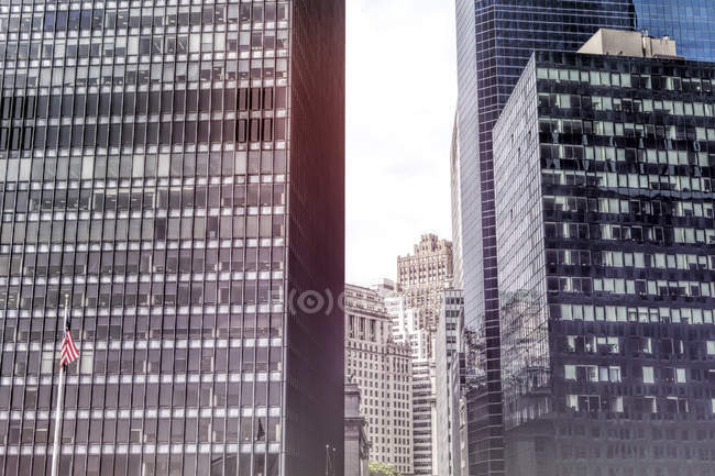 View of high rise buildings at daytime, New York City, USA — Stock Photo
