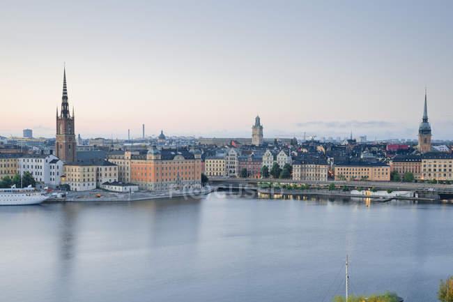Svezia, Stoccolma, vista da Soedermalm alla città vecchia — Foto stock