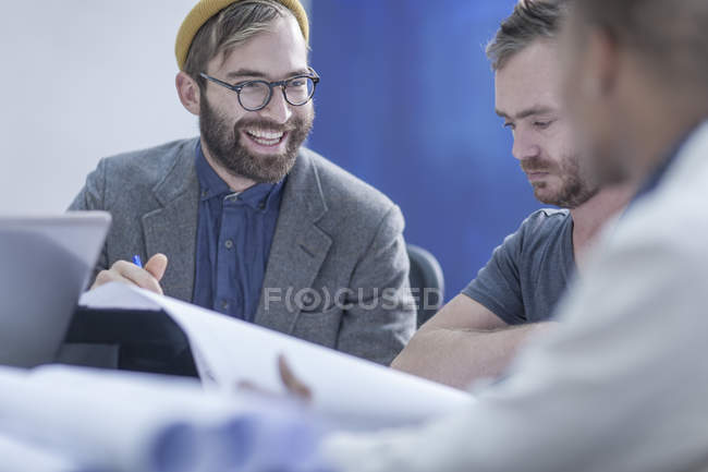Creative business colleagues having a meeting in office — Stock Photo