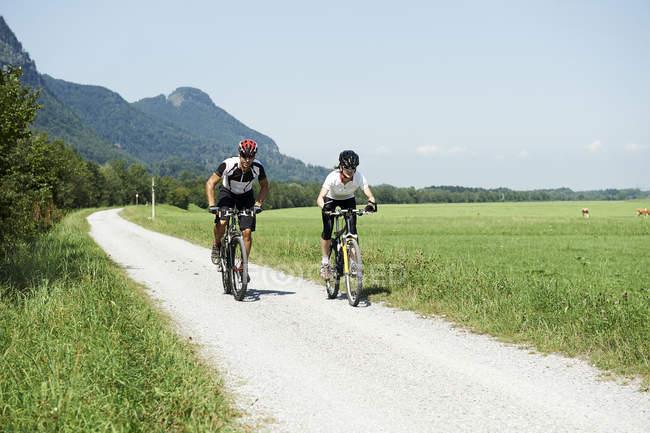 Австрия, Кранцхорн, Пара горных велосипедов — стоковое фото