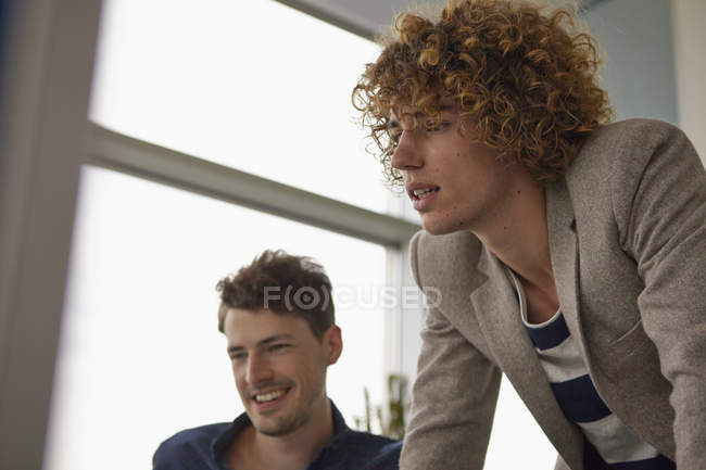 Two colleagues in office — Stock Photo