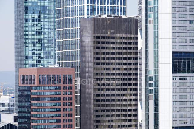 Alemanha, Frankfurt, edifícios distritais financeiros, como visto de Domturm — Fotografia de Stock