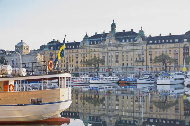 Sweden, Stockholm, View on the Strandvaegen during daytime — Stock Photo