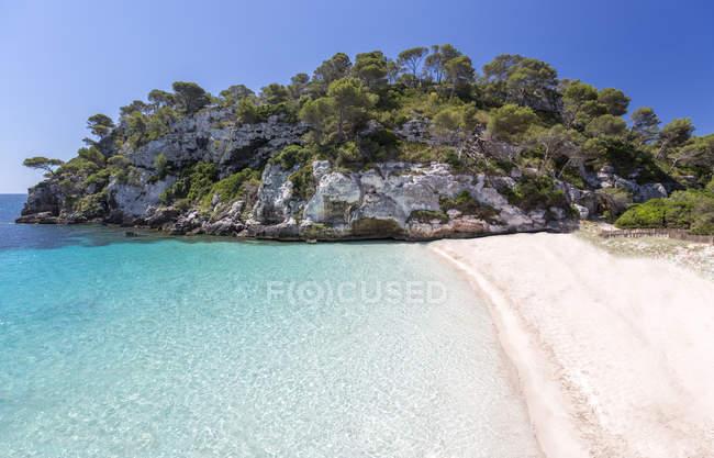 Spagna, Isole Baleari, Minorca, veduta di Cala Macarelleta — Foto stock