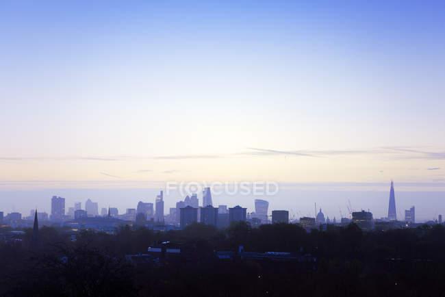 UK, London, skyline at a winter morning — Stock Photo