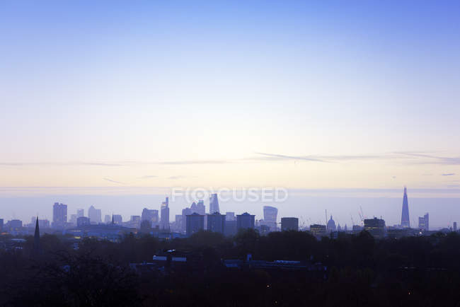 UK, London, skyline at a winter morning — Stock Photo