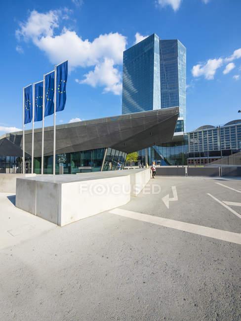 Entrada principal de Alemanha, Frankfurt, Banco Central Europeu, — Fotografia de Stock