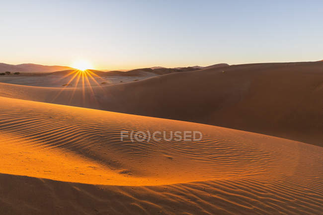 Africa, Namibia, Namib Desert, View to desert dunes at Namib-Naukluft National Park — Stock Photo