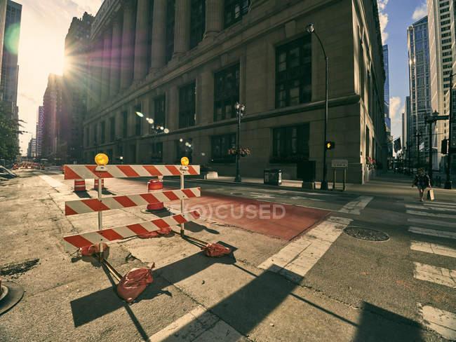 США, штат Іллінойс, Чикаго, будівельного майданчика, на роздоріжжі — стокове фото
