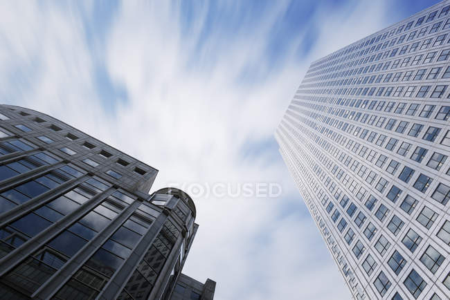 Bottom view of skyscrapers at daytime, London, UK — Stock Photo
