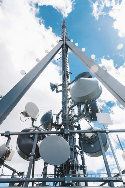 Switzerland, Zurich, Communication tower Uetliberg  against sky — Stock Photo