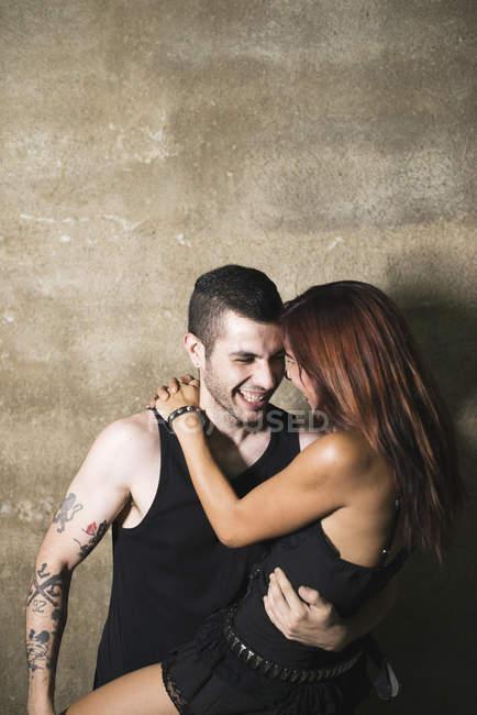 Couple in love having fun — Stock Photo