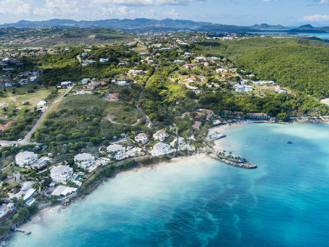 Antigua und Barbuda, Antigua, Crosbies, Wohltaten Bay — Stockfoto
