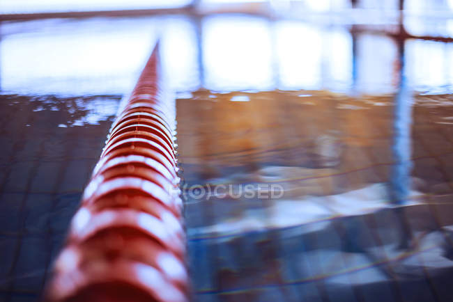 Swimming lane in indoor pool — Stock Photo