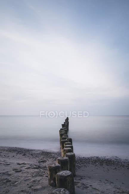 Германия, Ницца, вид на пляж с пазухами — стоковое фото