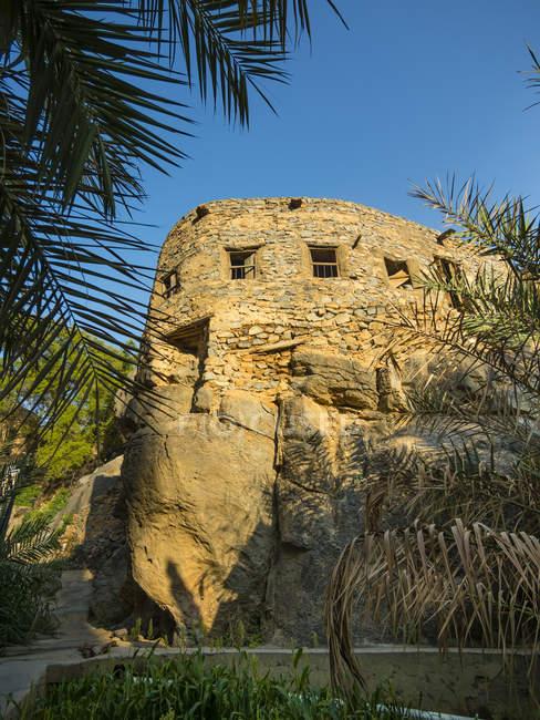 Оман, Вади Misfah, старый дом в исторической деревне — стоковое фото