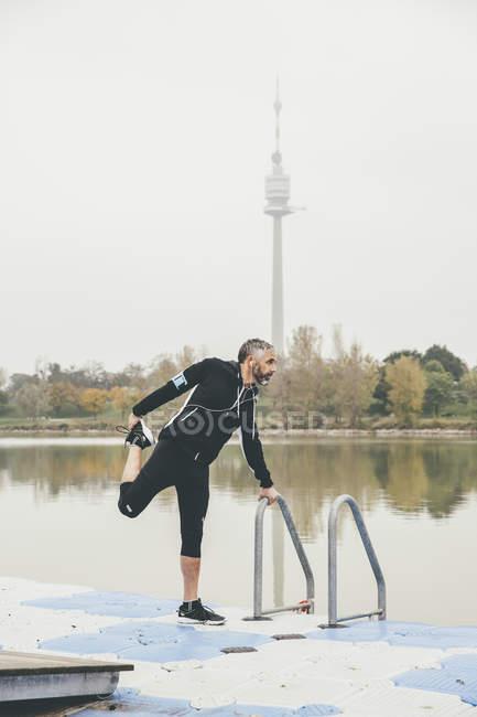 Австрия, Вена, бегун на Дунае — стоковое фото