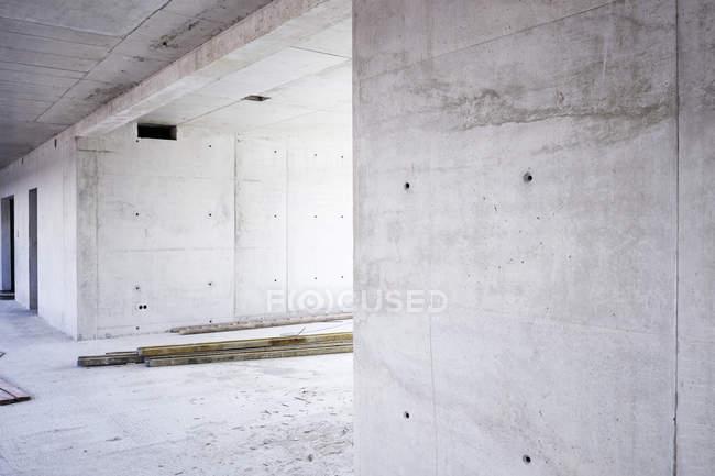 Unfertigen Gebäude im Bau — Stockfoto